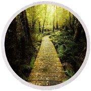Lush Green Rainforest Walk Round Beach Towel
