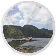 Lut Tawar Lake Round Beach Towel