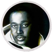 Luther Vandross - Singer  Round Beach Towel