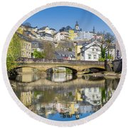 Luxembourg City Round Beach Towel by JR Photography