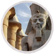 Round Beach Towel featuring the photograph Luxor by Silvia Bruno