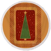 Luxurious Christmas Card Round Beach Towel