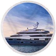 Luxury Yacht Round Beach Towel