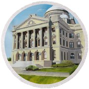 Luzerne County Courthouse Round Beach Towel