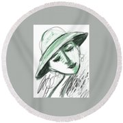 Lydia Round Beach Towel by Elaine Lanoue