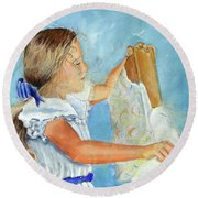 Lydia's 9th Birthday Round Beach Towel
