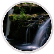 Lynn Mill Waterfalls Round Beach Towel