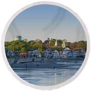 Lynn Waterfront Swampscott Water Tower Lynn Ma Round Beach Towel
