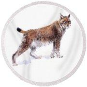 Lynx Round Beach Towel