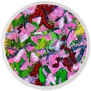 Lyrical Abstraction 201 Round Beach Towel