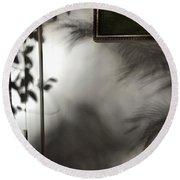Round Beach Towel featuring the photograph Lysiloma Shadows by Kim Nelson