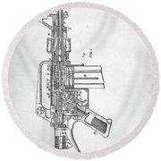M-16 Rifle Patent Round Beach Towel by Taylan Apukovska