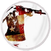 M1 Carbine And Bayonet Round Beach Towel