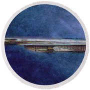 M50 Myasishchev  Round Beach Towel by Michael Cleere