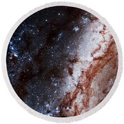 M51 Hubble Legacy Archive Round Beach Towel