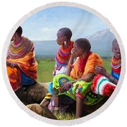 Samburu In Maasai Land Round Beach Towel