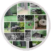 Mabry Mill Round Beach Towel by Eric Liller