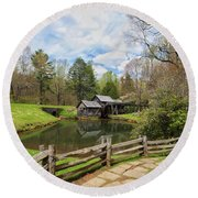 Mabry Mill In The Spring Round Beach Towel