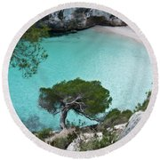 Macarelleta Turquoise Jewell By Pedro Cardona Round Beach Towel