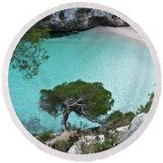 Macarelleta Turquoise Jewell By Pedro Cardona Round Beach Towel