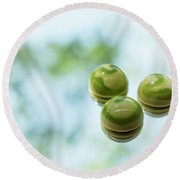 Macha Tea Chocolate Round Beach Towel by Sabine Edrissi