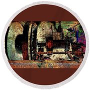 Machine Art Round Beach Towel