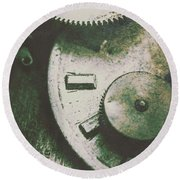 Machinery From The Industrial Age Round Beach Towel