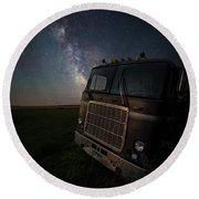 Round Beach Towel featuring the photograph Mack by Aaron J Groen