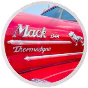 Mack Truck Hood Badges Round Beach Towel