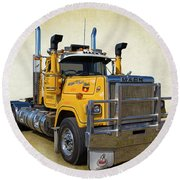 Mack Truck Round Beach Towel