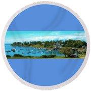 Mackerel Cove On Bailey Island Round Beach Towel
