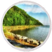 Mackinac Island Michigan's Northeast Shore Round Beach Towel