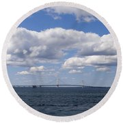 Mackinac Sky Round Beach Towel