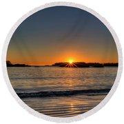 Mackinsie Beach Sun Burst Round Beach Towel