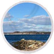 Mackworth Island Falmouth Maine Round Beach Towel