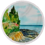 Mackworth Island Maine  Round Beach Towel