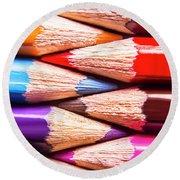 Macro Coloured Pencil Crossover Round Beach Towel