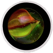 Macro Marble 2 Round Beach Towel by David Stasiak