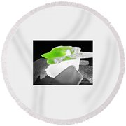 Macro Sea Glass Round Beach Towel