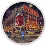 Macy's Of New York Round Beach Towel