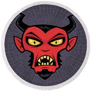 Mad Devil Round Beach Towel