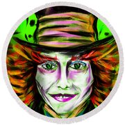 Mad Hatter Round Beach Towel