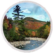 Mad River By Welch And Dickey  Round Beach Towel