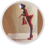 Madame Rouge Round Beach Towel