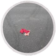 Round Beach Towel featuring the photograph Made Out Of Meat by Marie Neder
