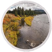 Madison River Round Beach Towel
