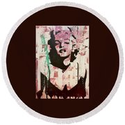 Round Beach Towel featuring the painting Madness Is Genius by Jayime Jean