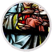 Madonna And Child Round Beach Towel by John S