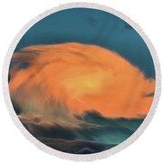 Round Beach Towel featuring the digital art Maelstrom by Aliceann Carlton