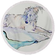 Maevis Round Beach Towel